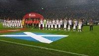 4 Hombrucher Kinder beim Länderspiel Deutschland gegen Schottland