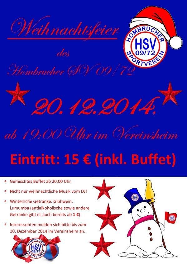 HSV Weihnachtsfeier 2014