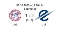 U13 verliert Spitzenspiel gegen TSC Eintracht
