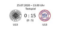 HSV U13 beim SV Wanne
